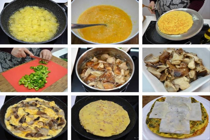 Paso 4 de Pastel de tortillas variadas