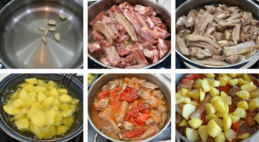 Paso 3 de Costilla de cerdo con patatas
