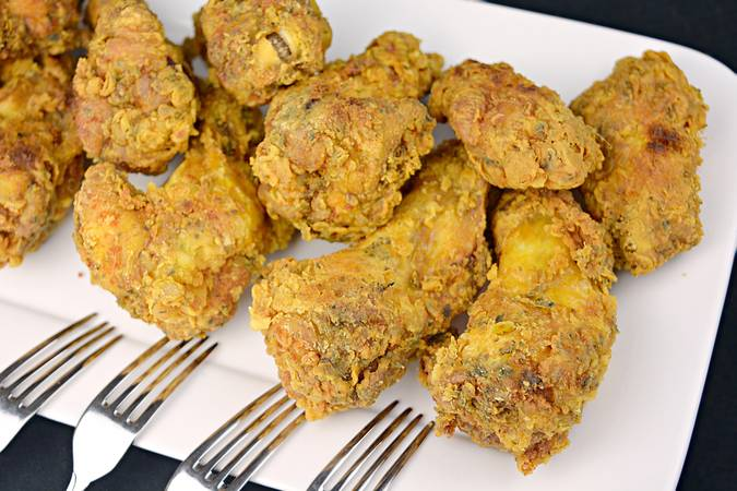 Paso 7 de Alitas de pollo marinadas y crujientes