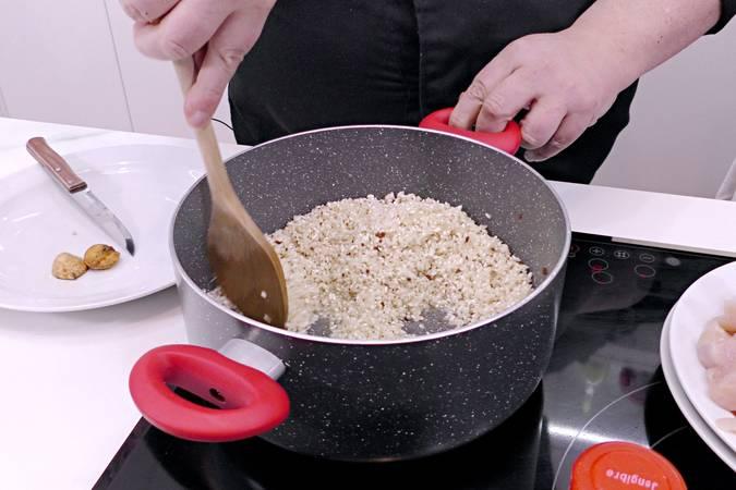 Preparamos el arroz blanco