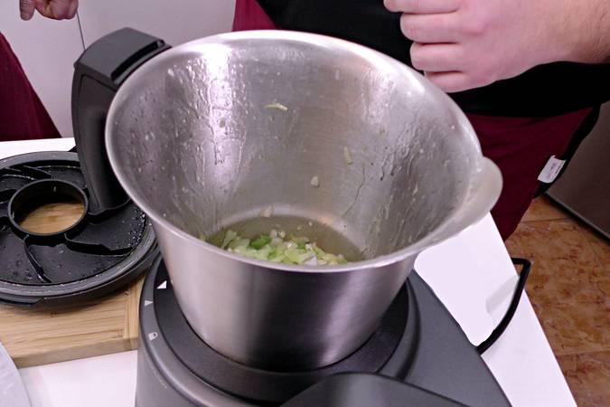 Cocinamos las verduras en el robot