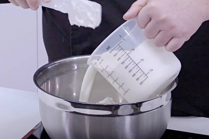 Paso 1 de Tarta de queso batido