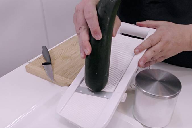 Cortar el calabacín