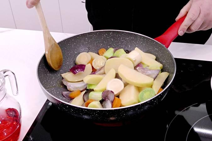 Paso 3 de Churrasco de ternera asado con verduras