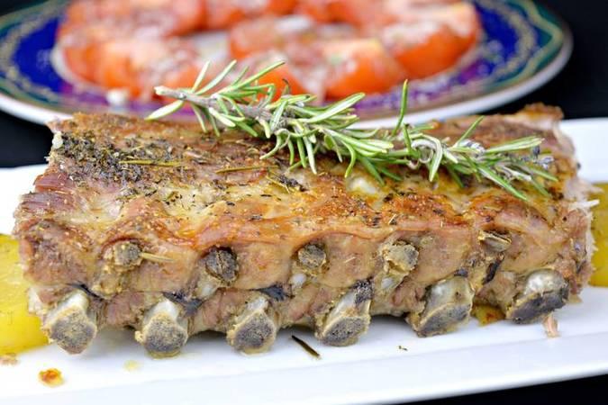 Costillas de cerdo asadas