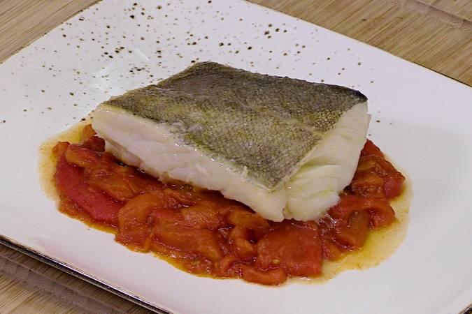 Paso 5 de Receta de bacalao con pimientos asados