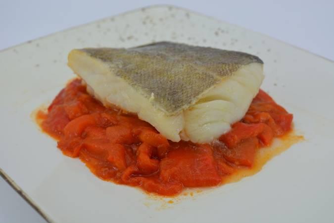 Paso 6 de Receta de bacalao con pimientos asados