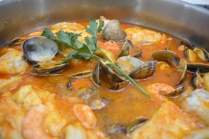 Ya hemos terminado la receta de zarzuela de pescado y marisco