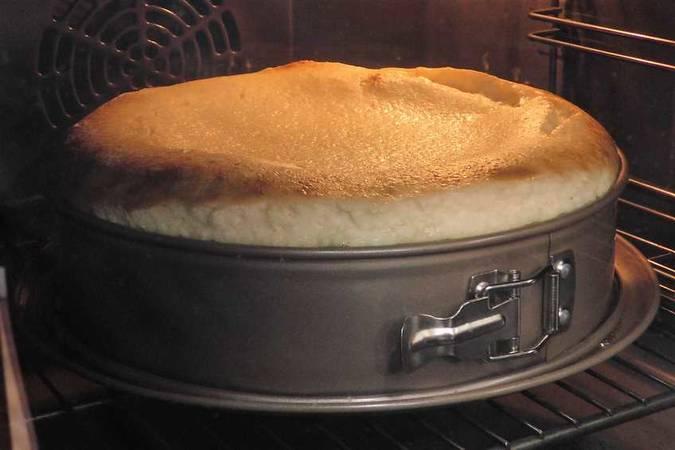 Hornear la tarta de queso