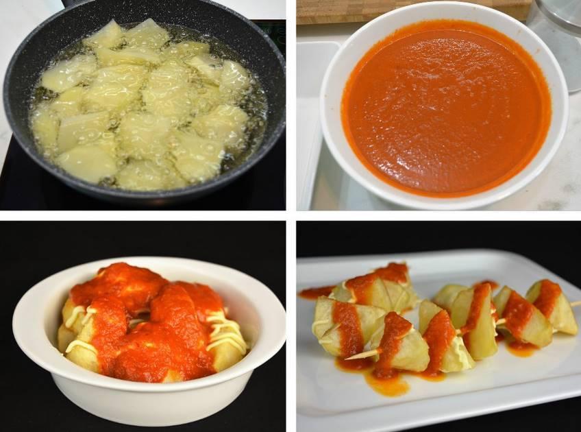 Paso 2 de Receta de patatas bravas con salsa casera picante