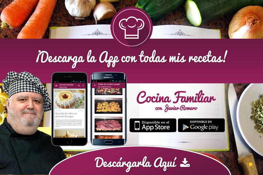 La App de Cocina Familiar para tu tablet o móvil
