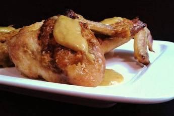 Alitas de pollo con salsa de cacahuete