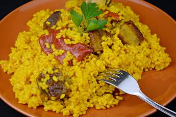 Arroz con costillas de cerdo
