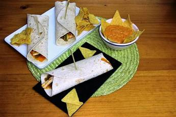 Burritos con nachos, receta casera
