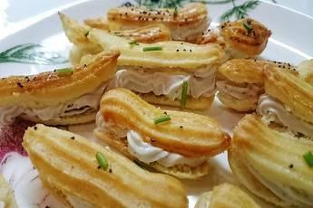 Canapé crujiente de anchoas