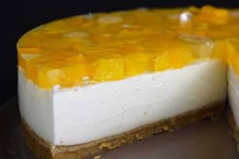 Cómo hacer cheesecake de melocotón