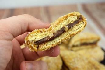 Cómo hacer galletas fritas con chocolate