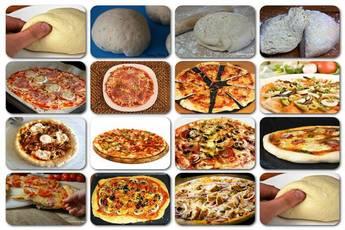 Como hacer masa de pizza y pizzas variadas