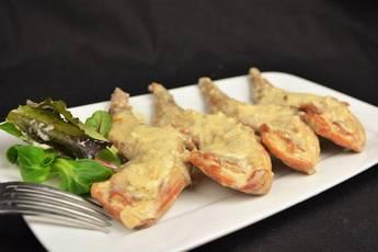 Conejo con salsa de nueces, receta casera