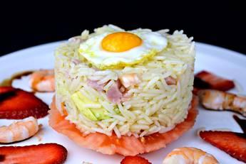 Ensalada de arroz con mariscos