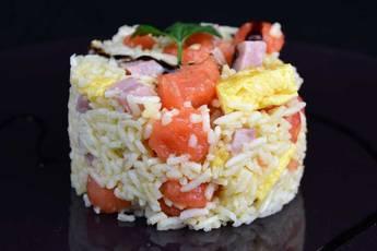 Ensalada de arroz tres delicias