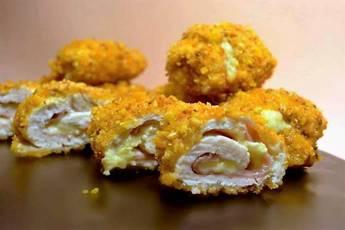 Flamenquines de pollo empanados con kikos