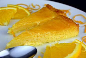 Flan de naranja con caramelo casero