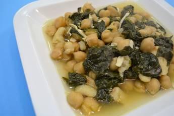 Garbanzos en vigilia, receta casera