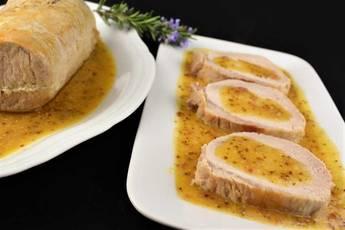 Lomo de cerdo al horno con salsa agridulce