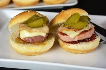 Minihamburguesas con caramelizados IBSA