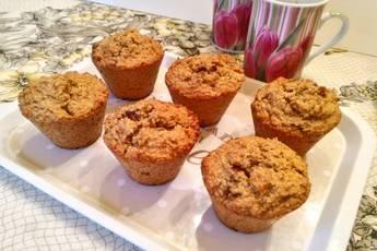 Muffins energéticos de avena y dátiles