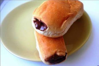 Pan Relleno de Chocolate en 3 Minutos