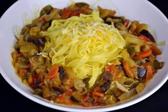 Pasta con verduras para dieta