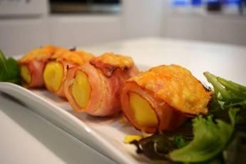 Patatas gratinadas con bacón