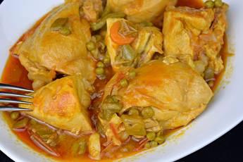 Receta de pollo a la jardinera, cocina española
