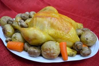 Pollo asado en una bolsa, receta para dieta