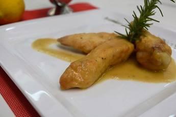 Receta de pollo con salsa de limón