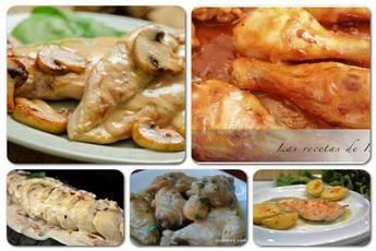 Pollo en salsa, 5 recetas diferentes