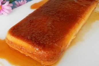 Pudin de magdalenas con caramelo casero