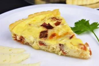 Quiche de jamón y queso manchego