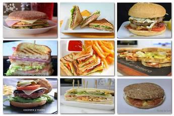 Recetas de sándwichs y hamburguesas