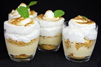 Soufflé de merengue y crema pastelera