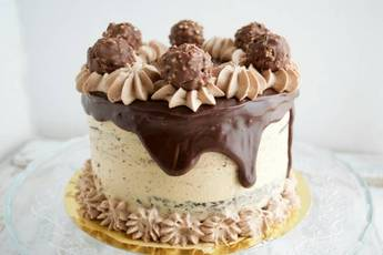 Tarta de chocolate y ferrero rocher