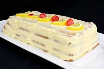 Tarta de limón y galletas sin horno