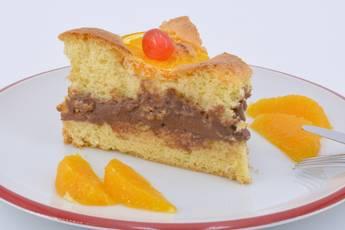 Tarta de naranja con crema de chocolate, receta casera
