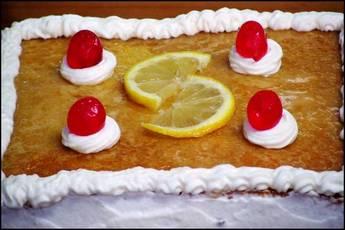 Tarta de ron con limón, paso a paso