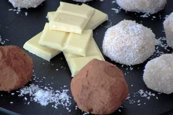 Como hacer trufas con chocolate blanco y chocolate fondant