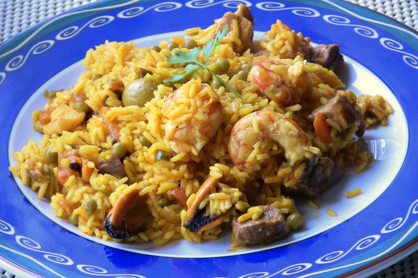 Paella mixta receta casera for Javier romero cocina
