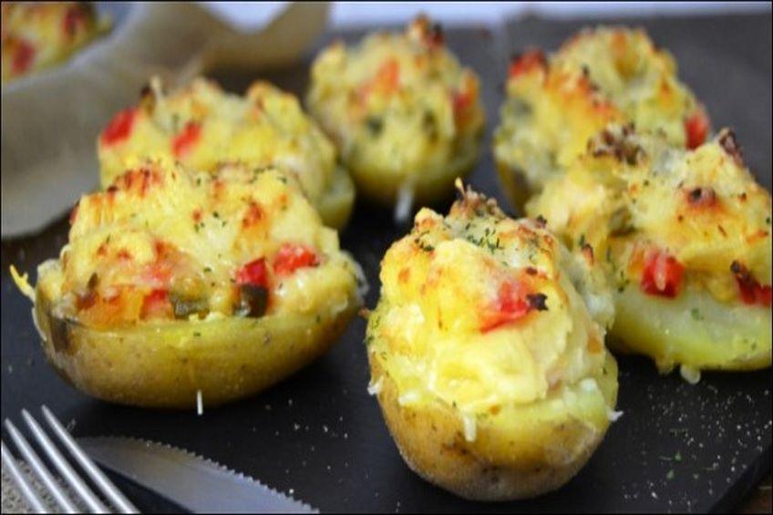 Patatas rellenas de pollo gratinadas for Javier romero cocina
