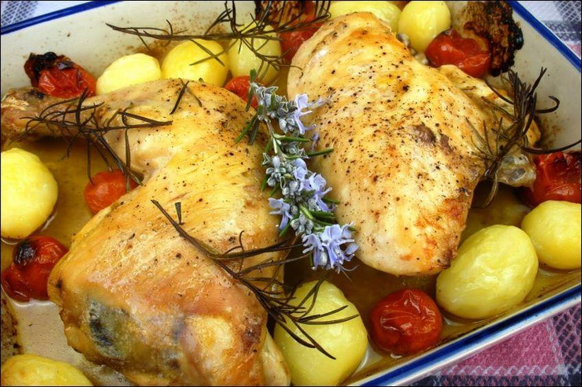 Pollo al horno - Cocina al horno ...